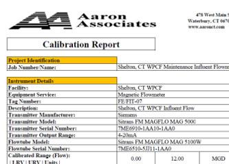 CalibrationReport